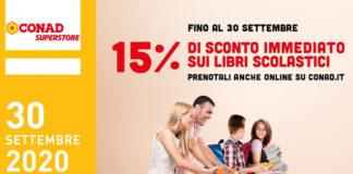 Iniziativa Conad: 15% di sconto sui libri scolastici