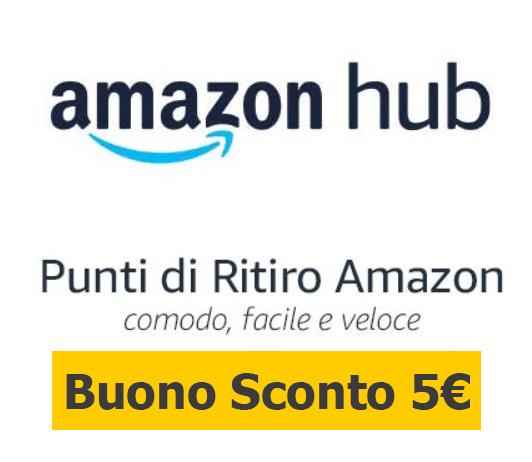Buono Sconto di 5€ se ritiri presso un Amazon HUB