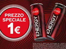 Coca Cola Energy a 1€ in Autogrill