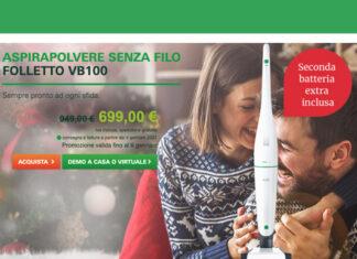 Aspirapolvere Folletto VB100 scontata di 250€