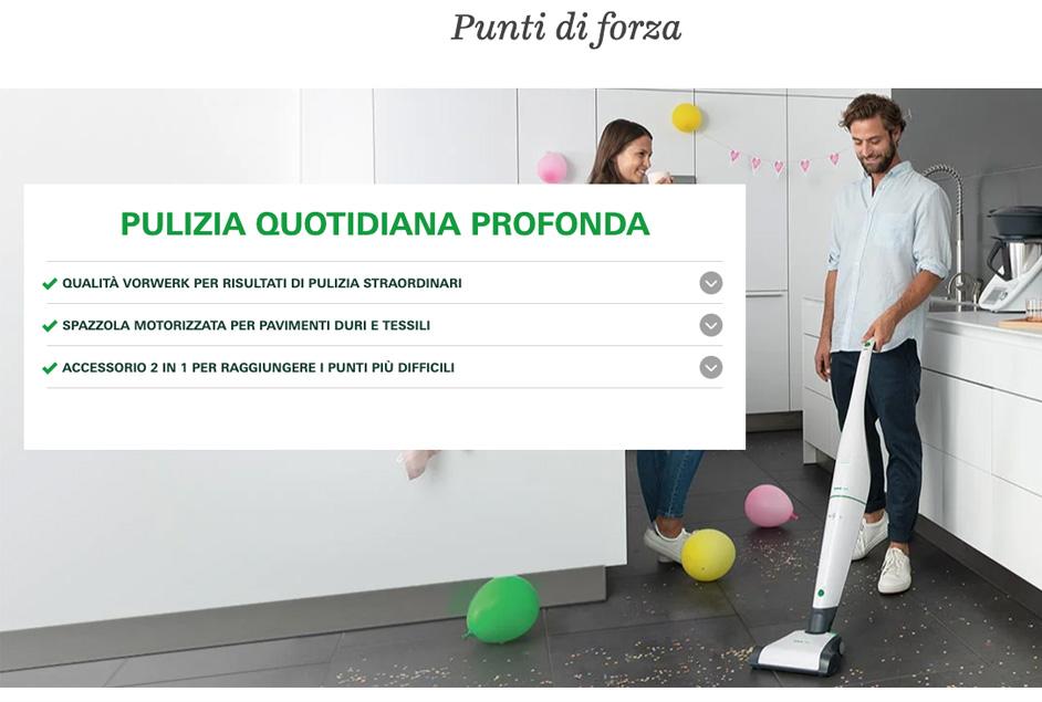 Aspirapolvere Folletto scontata di 250€ solo sul sito di Vorwerk