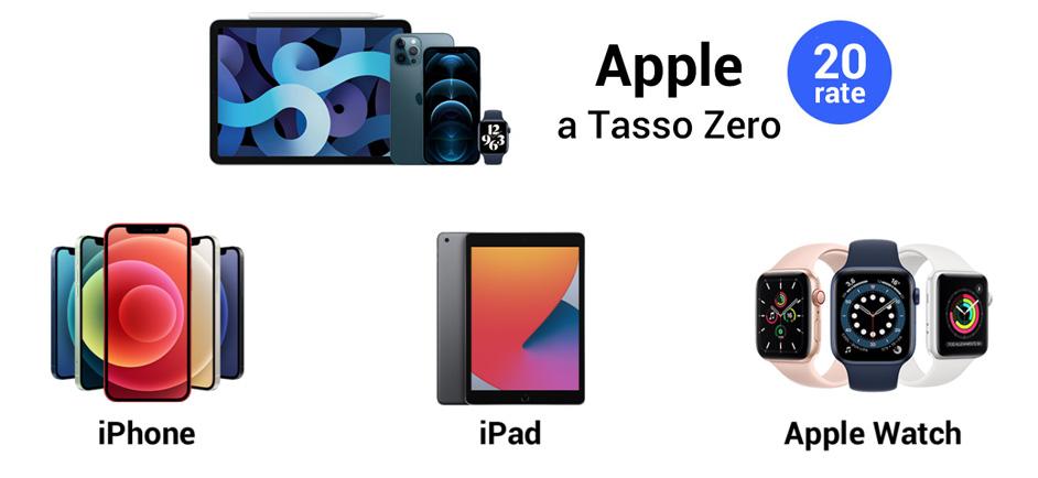 Finanziamento Apple Tasso Zero su Monclick