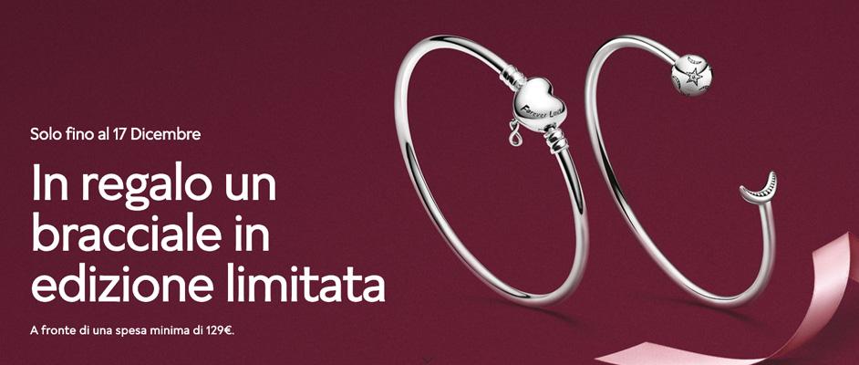 Promozione Pandora ricevi un bracciale in omaggio del valore di 69€