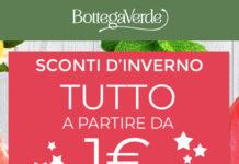 Bottega Verde tutto a partire da 1€ solo online