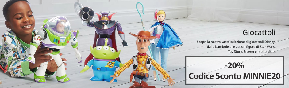 Disney Codice Sconto MINNIE20 - extra 20% sui giocattoli