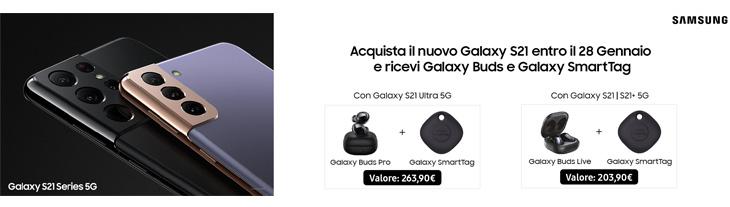 Acquista Galaxy S21 su Amazon - Sconto 100€ più 3 omaggi