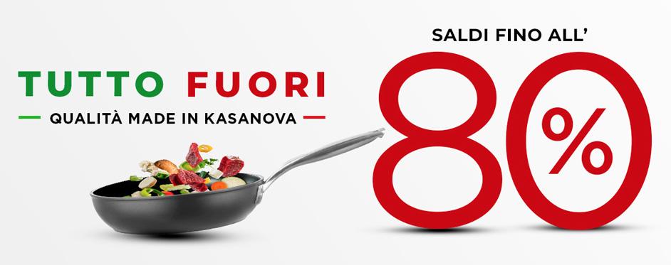 Saldi Kasanova fino all'80% di sconto su tutti i prodotti