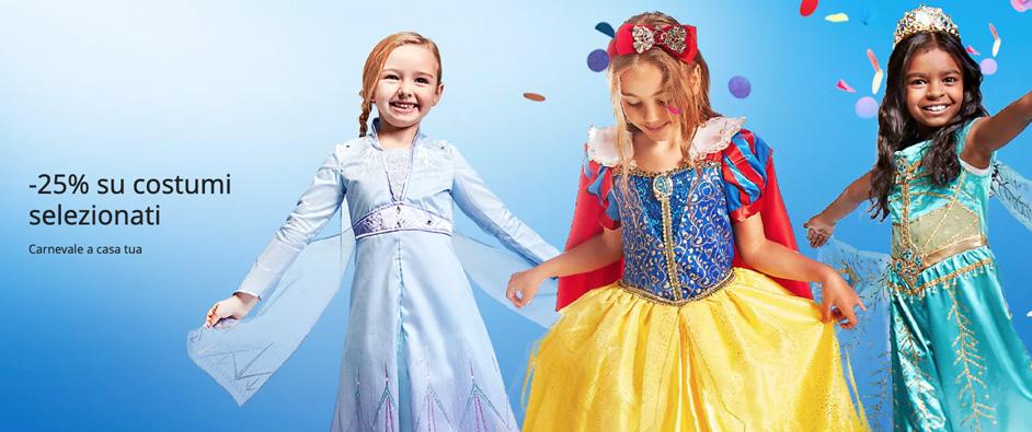 Vestiti di Carnevale Disney -25% di extra sconto su un'ampia selezione di prodotti