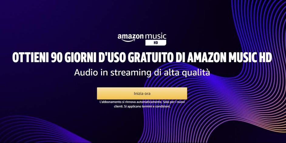 Amazon Music HD gratis per 90 giorni