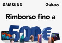 Rimborso Samsung fino a 500€ su Smartphone, Tablet, Notebook e Smartwatch