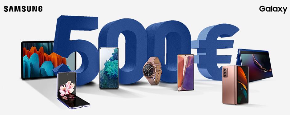 Rimborso Samsung fino a 500€ sulla linea Galaxy