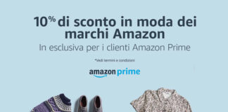 Amazon Moda - 10% con codice sconto FASHION10