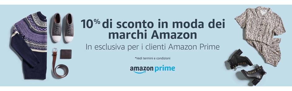 Amazon Moda codice sconto FASHION10 per utenti Prime