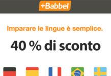 Babbel -40% di sconto sugli abbonamenti