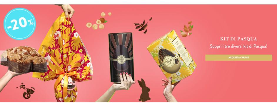 Cioccolato venchi -20% sui tre Kit di pasqua