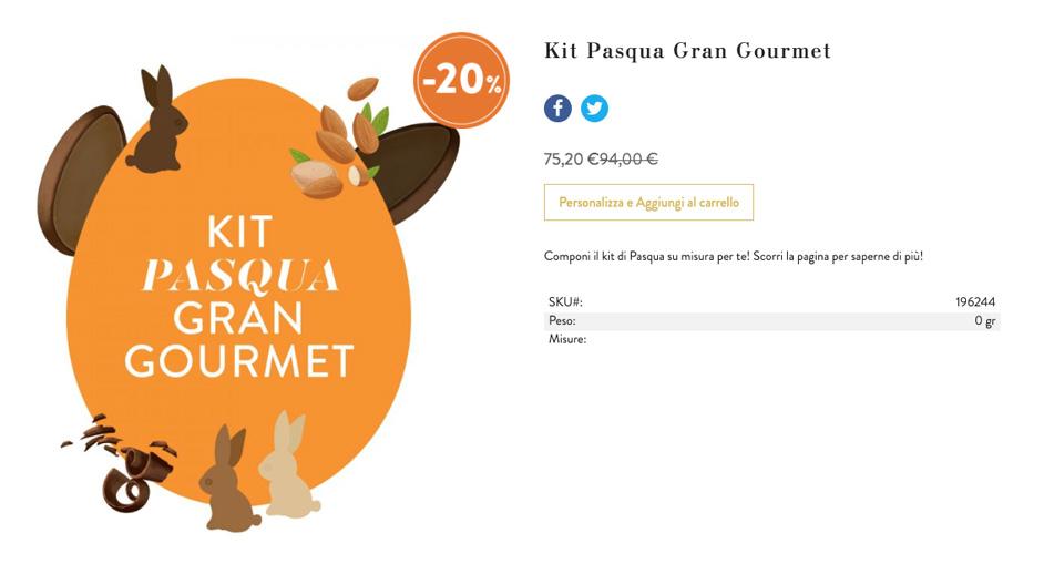 Cioccolato venchi - Kit Pasqua Gran Gourmet