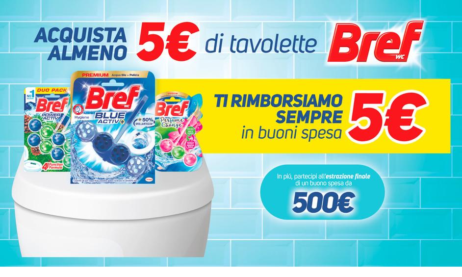 Bref Ricev un buono spesa del valore di 5 euro
