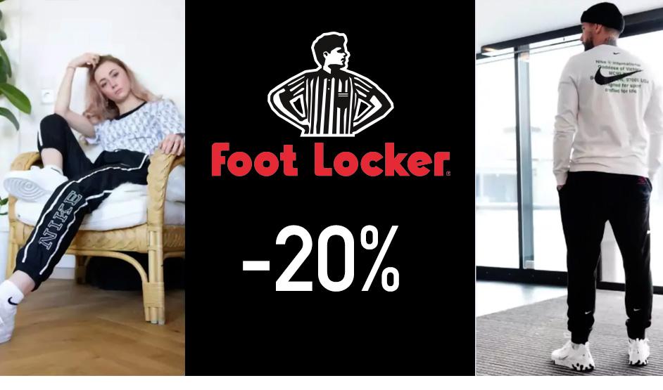 Foot Locker codice sconto del 20%