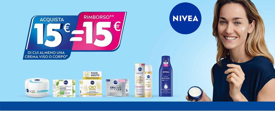 Nivea spendi almeno 15€ e ricevi il rimborso completo