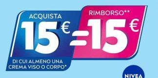 Nivea ottieni 15€ di rimborso sui tuoi acquisti