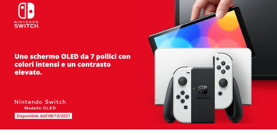 Nintendo switch Oled prenotala subito su Amazon