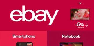 Sconti Ebay - Risparmia il 5% su TV, Smartphone e PC